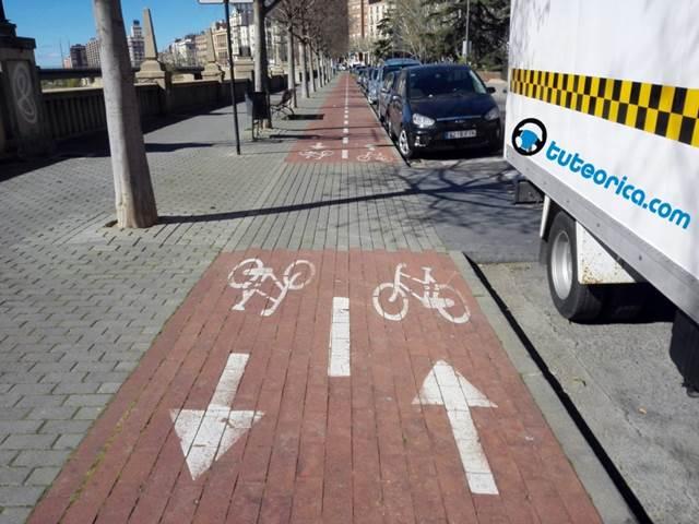 Carril bici para ciclos y bicicletas
